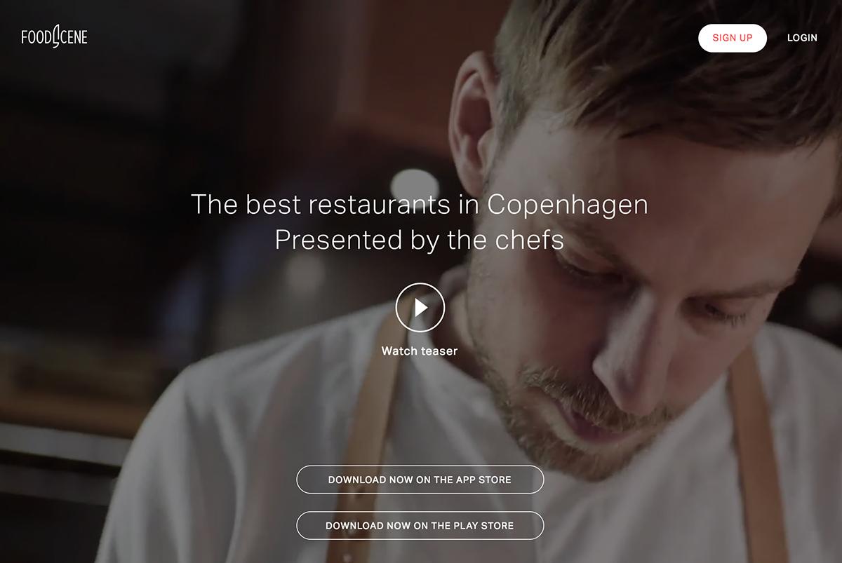 Foodscene landing page design